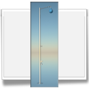 Stilo drop colonna doccia da esterno in acciaio inox - Box doccia design minimale ...